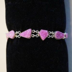 Sterling Silver (.925) Handmade Druzy Bracelet